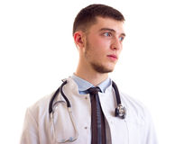 Young man in doctor gown Stock Photography