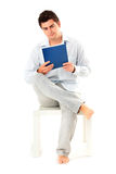 Young man with documents Royalty Free Stock Images