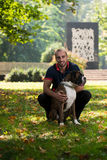 Young Man With Dog Royalty Free Stock Photos