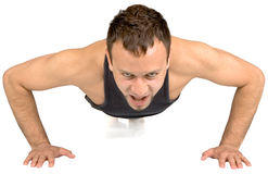 Young man doing exercise, Royalty Free Stock Photo