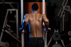 Young Man Doing Exercise For Triceps Stock Photography