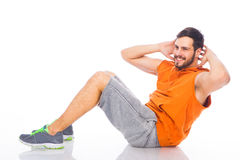 Young man doing exercises Royalty Free Stock Photography