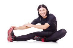 Young man doing exercises Royalty Free Stock Images