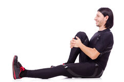 Young man doing exercises Royalty Free Stock Image