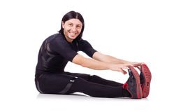 Young man doing exercises Stock Images