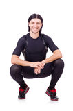 Young man doing exercises Royalty Free Stock Photos