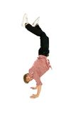 Young man doing handstand Royalty Free Stock Photos