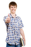 Young man doing the ok sign Stock Images