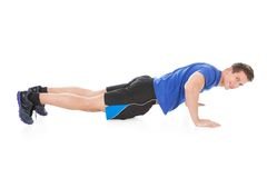 Young Man Doing Pushups Royalty Free Stock Image