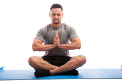 Young man doing some yoga Stock Photos
