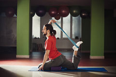 Young man doing yoga Royalty Free Stock Images
