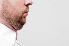 Young man with a double chin Royalty Free Stock Photo