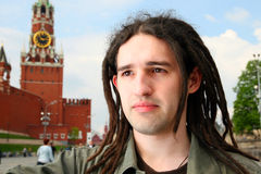 Young man with dreadlock hair. Stock Image