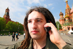 Young man with dreadlock hair. Royalty Free Stock Photography