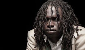 Young man with dreads Stock Photo