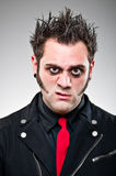 Young Man Dressed As An Emo Goth. Stock Photos