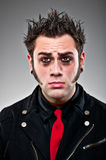 Young Man Dressed As An Emo Goth. Royalty Free Stock Photography