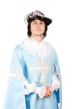 Young man dressed as musketeer Stock Photos