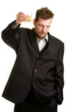 Young man with drink Stock Image