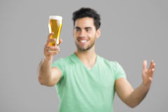 Young man drinking beer Royalty Free Stock Photo
