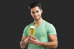 Young man drinking beer Royalty Free Stock Image