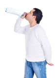 Young man drinking water Royalty Free Stock Image