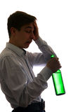 Young Man drinks a Beer Stock Photos