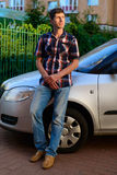Young man driver Royalty Free Stock Images