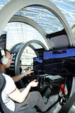 Young Man Driving a Modern Simulator - PlayStation Stock Photos