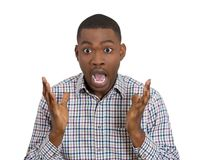 Young man dumbstruck dumbfounded Royalty Free Stock Photo