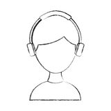 Young man with earphone Stock Photo