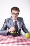 Young man eating Royalty Free Stock Photo