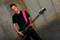 Young Man With electric Guitar Stock Photos