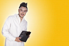 Young man electronic technical Royalty Free Stock Photos