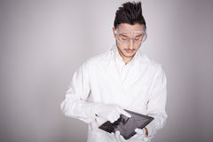 Young man electronic technical Royalty Free Stock Image