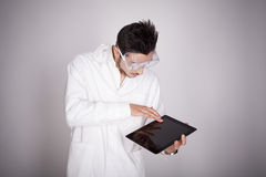 Young man electronic technical Royalty Free Stock Photography