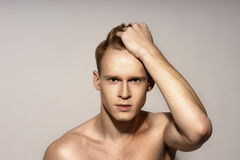 Young man emotional portrait Royalty Free Stock Photo