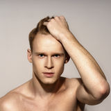 Young man emotional portrait Royalty Free Stock Images