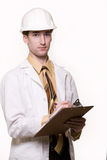 Young man engineer Royalty Free Stock Image
