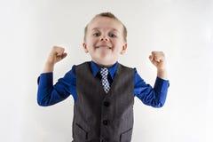 Young man enjoying his success Stock Photo