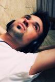 Young Man Enjoying Music Royalty Free Stock Image