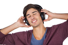 Young man enjoying music Royalty Free Stock Image