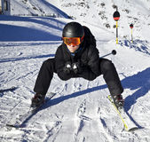 Young man enjoying winter sports. In solden, austria Stock Photos