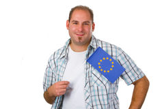 Young man with european flag Stock Photo
