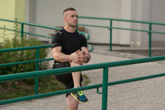 Young Man Exercise Fitness Sport And Strech Stock Photos