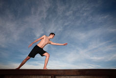 Young Man Exercises Royalty Free Stock Images