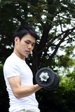 Young man exercising Stock Photo