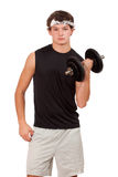 Young Man Exercising Stock Images