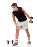 Young Man Exercising Stock Photography