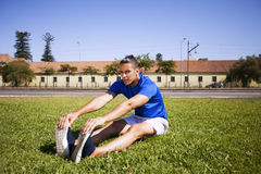 Young man exercising outdoor Royalty Free Stock Image